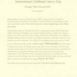 International Childhood Cancer Day