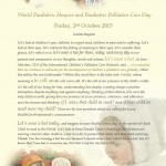 World Paediatric Hospice and Paediatric Palliative Care Day-Friday, 2nd October 2015
