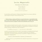 Lectio Magistralis - Nello Specchio della Scuola